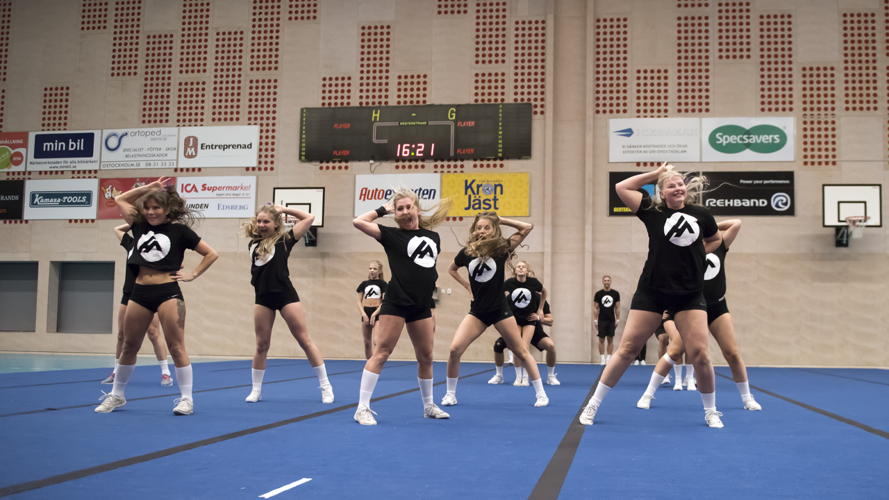 Cheerleading laget action.athletic tännar